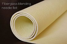 Fiberglass blending needle felt