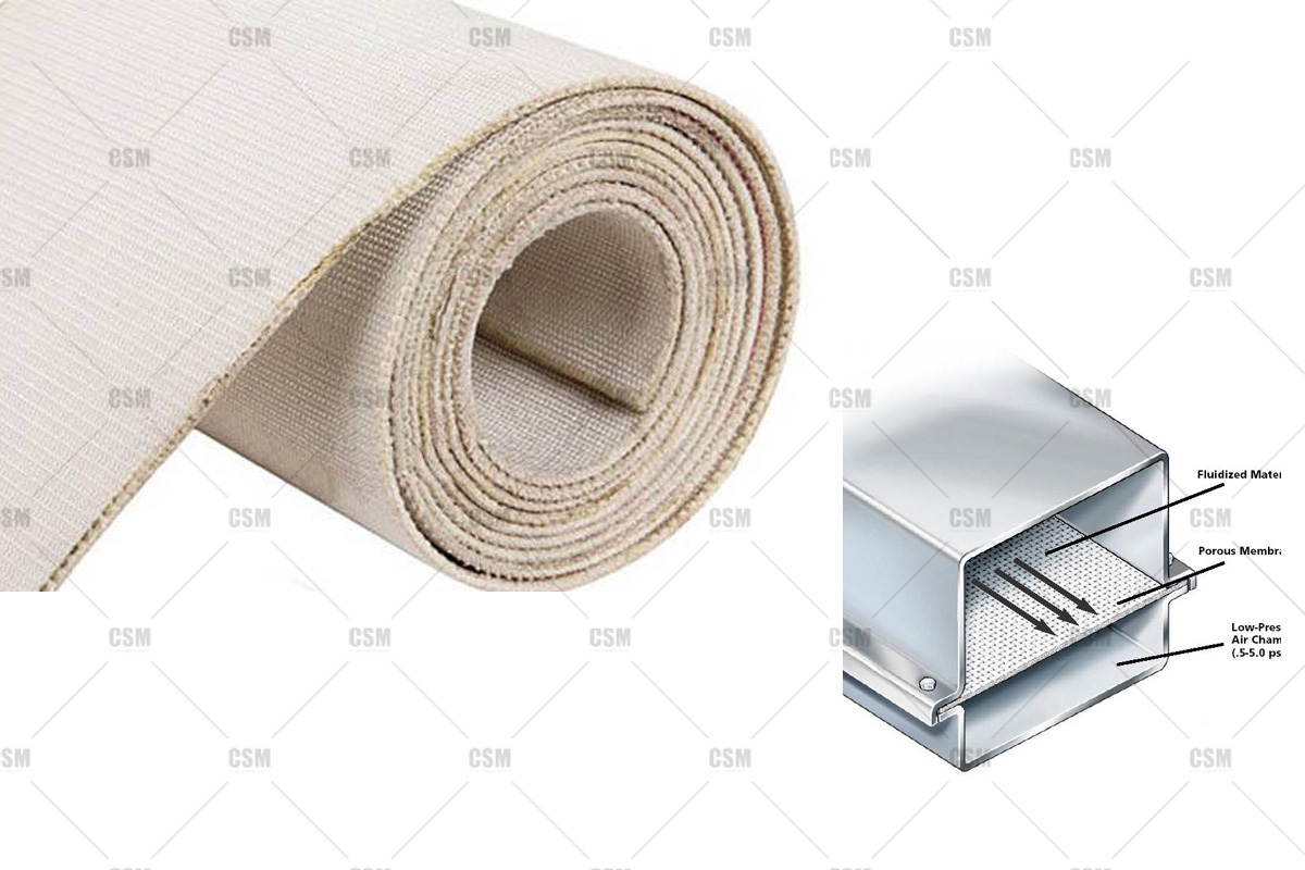 The technical parameters of air slide fabric for cement_air